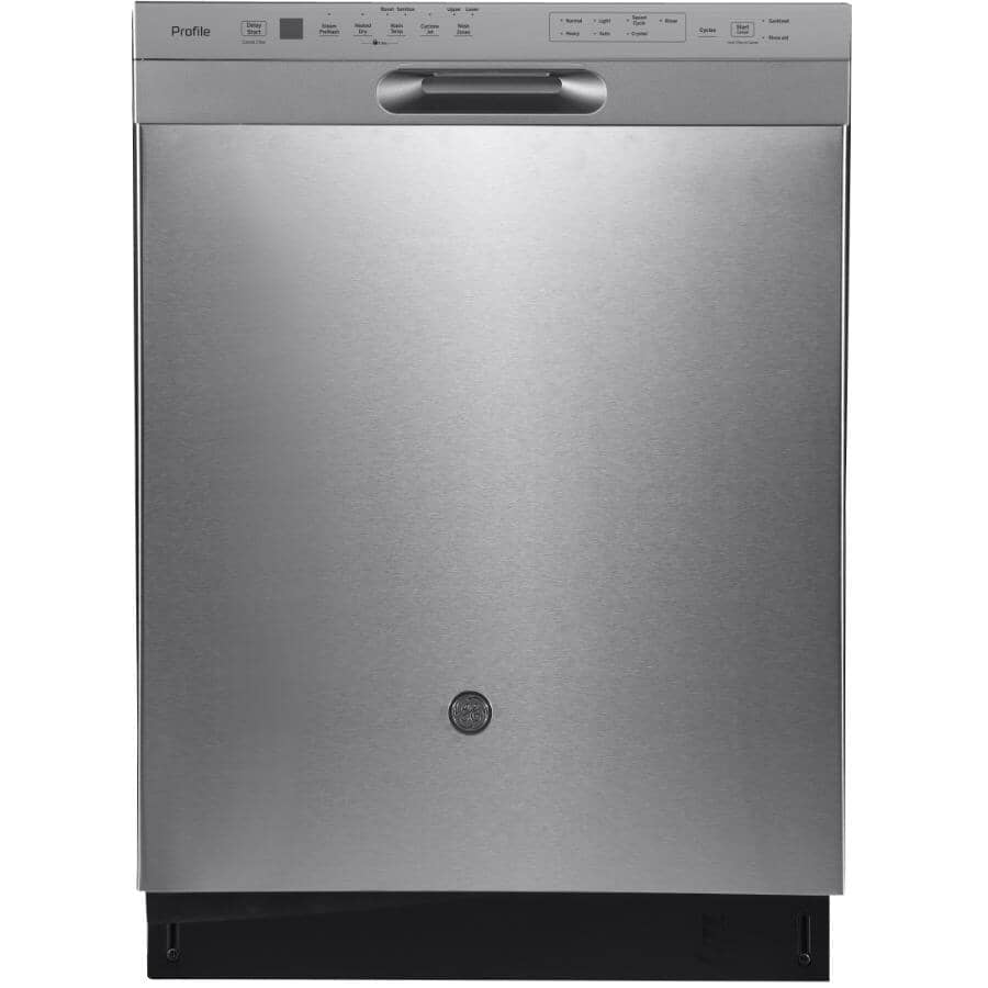 """GE PROFILE:24"""" Built-In Tall Tub Dishwasher (PBF665SSPFS) - with Front Controls, Stainless Steel"""