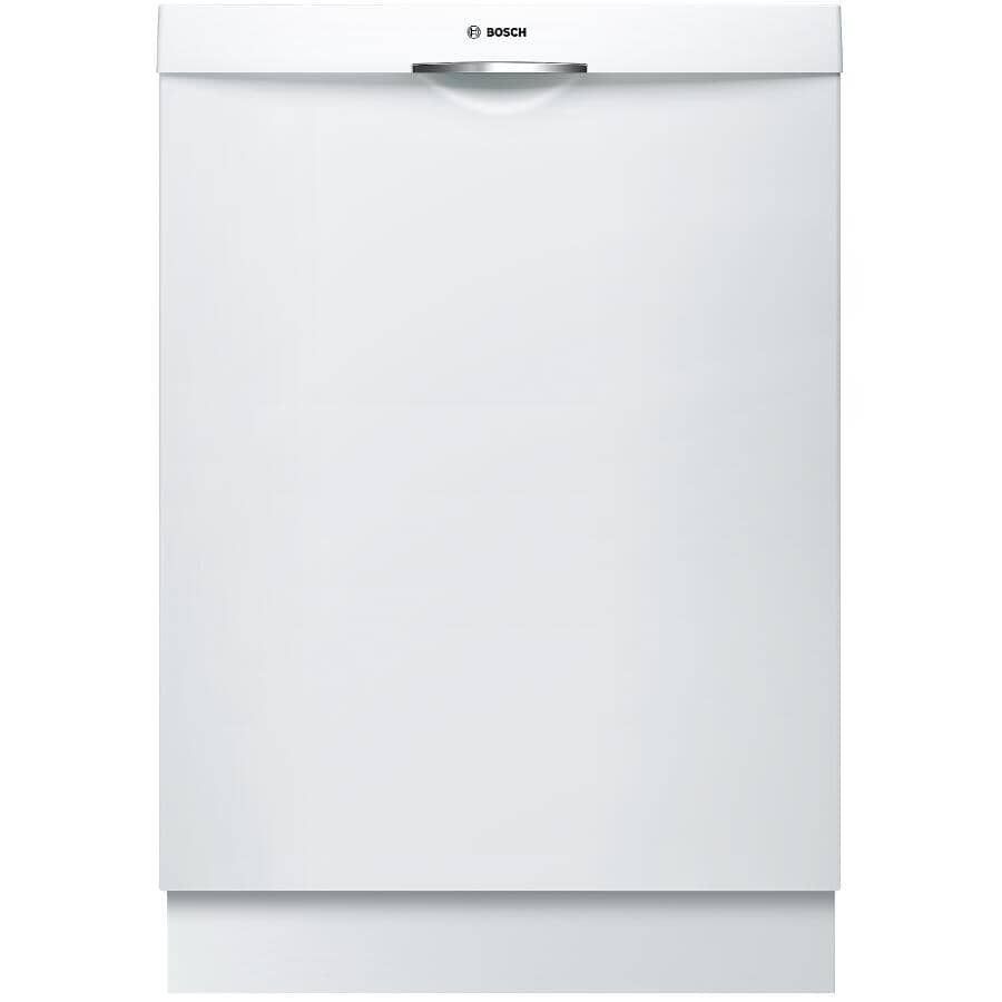 "BOSCH:300 Series 24"" Built-In Dishwasher (SHSM63W52N) - with Top Controls + Third Rack, White"