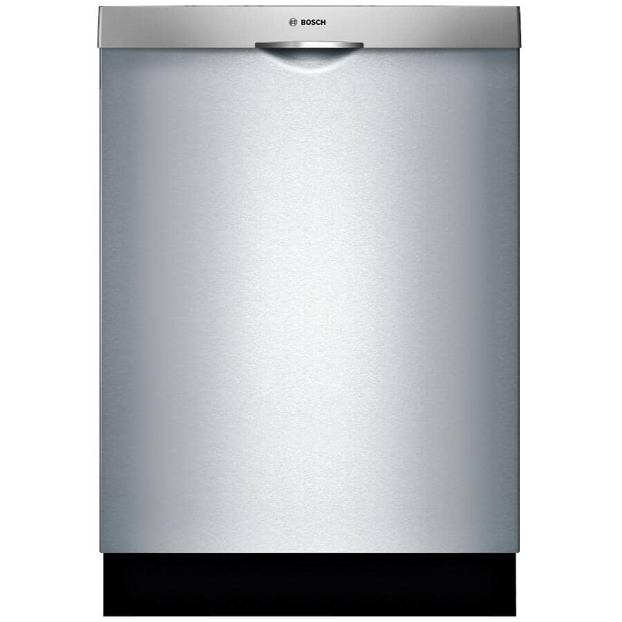 """BOSCH:300 Series 24"""" Built-In Dishwasher (SHSM63W55N) - with Top Controls + Third Rack, Stainless Steel"""