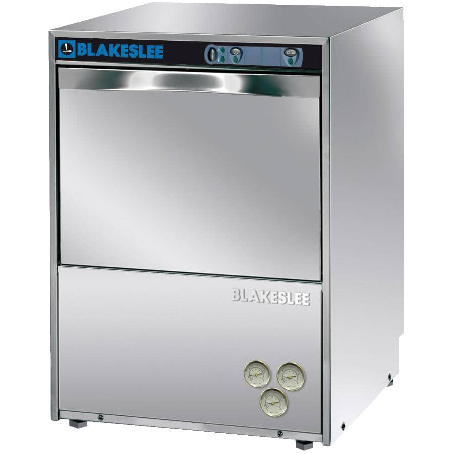"""BLACKESLEE:Commercial Grade Built-In Dishwasher (UC18-1) - Front Control + Stainless Steel with Stainless Steel Interior, 23.5"""""""