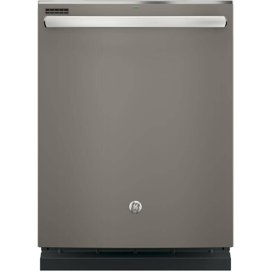 """GE:Built-In Tall Tub Dishwasher (GDT635HMMES) - Top Control + Slate with Stainless Steel Interior, 24"""""""