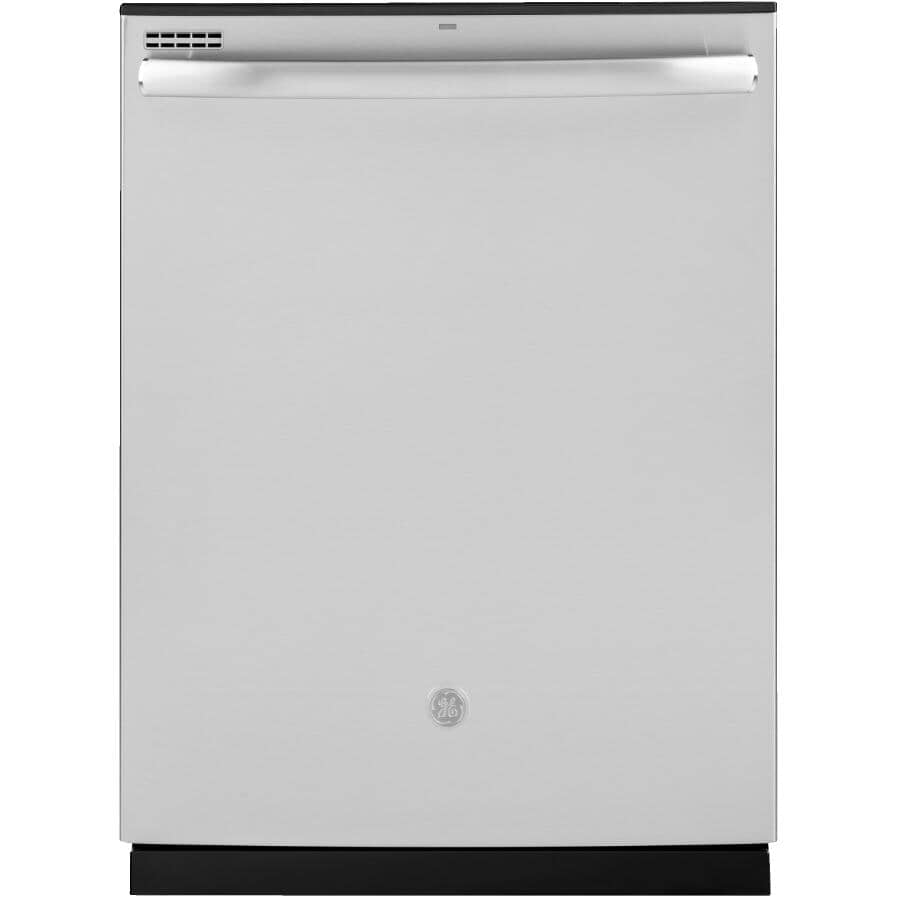"""GE:Built-In Tall Tub Dishwasher (GDT635HSMSS) - Top Control + Stainless Steel with Hybrid Interior, 24"""""""