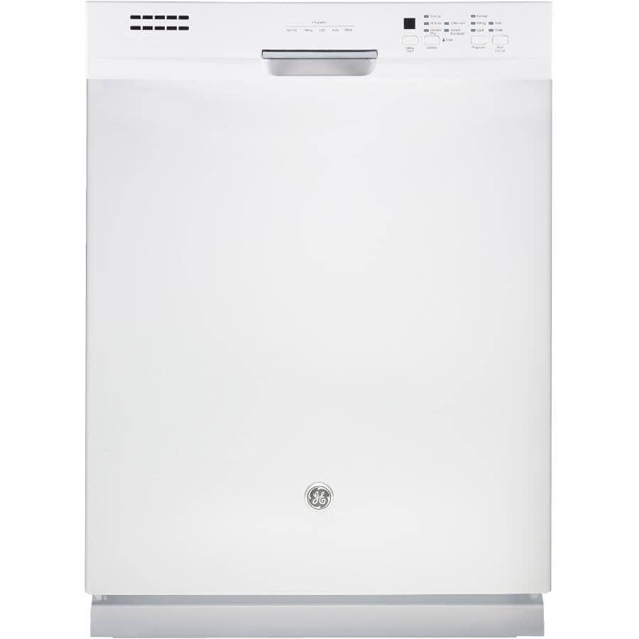 "GE:24"" White Built-In Tall Tub Dishwasher"