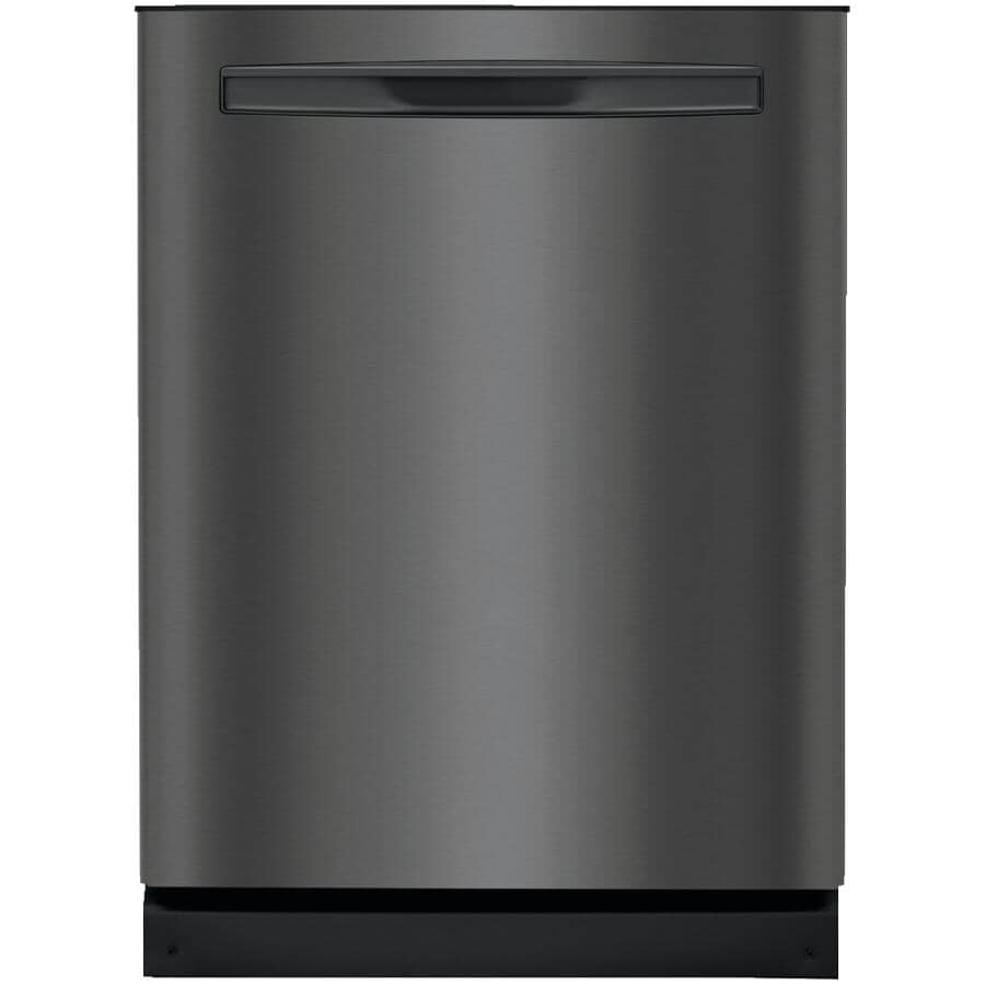 """FRIGIDAIRE GALLERY:Built-In Dishwasher (FGIP2468UD) - Top Control + Smudge-Proof Black Stainless Steel with Plastic Interior, 24"""""""