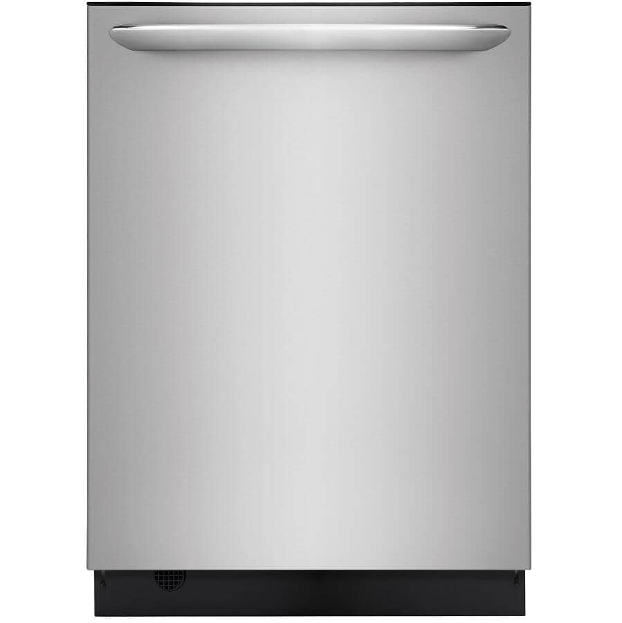 """FRIGIDAIRE GALLERY:Built-In Tall Tub Dishwasher (FGID2476SF) - Top Control + Stainless Steel with Stainless Steel Interior, 24"""""""