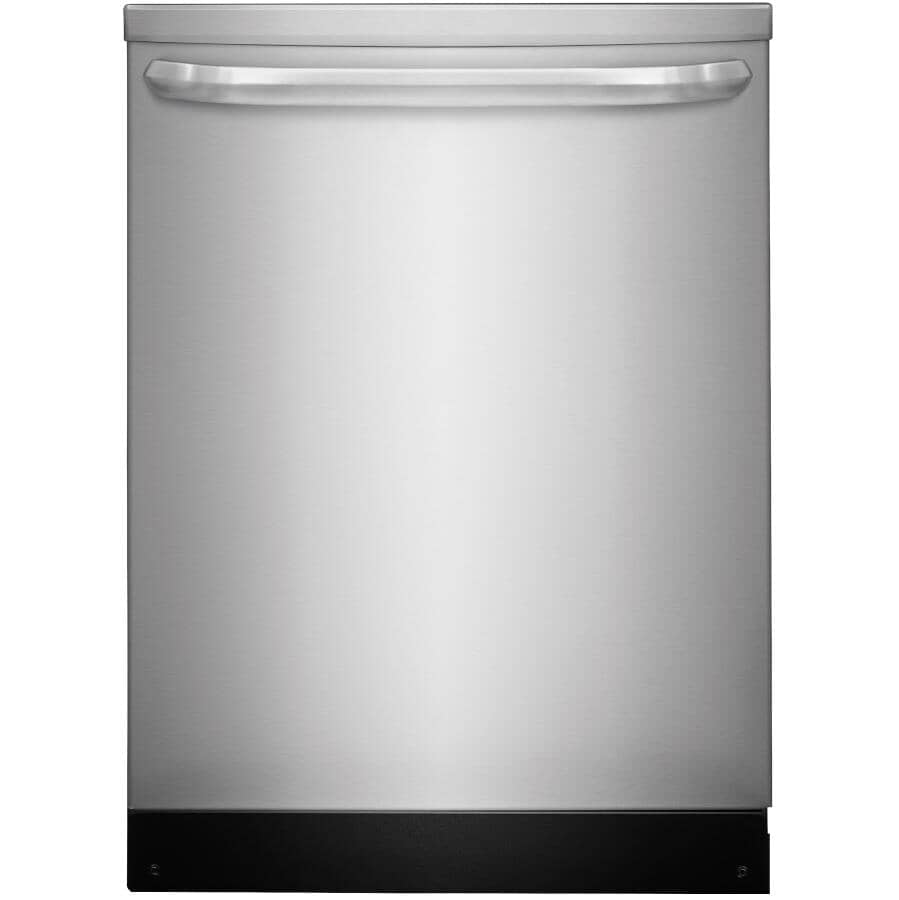 """FRIGIDAIRE:24"""" Built-In Dishwasher (FFID2426TS) - Top Control + Stainless Steel"""