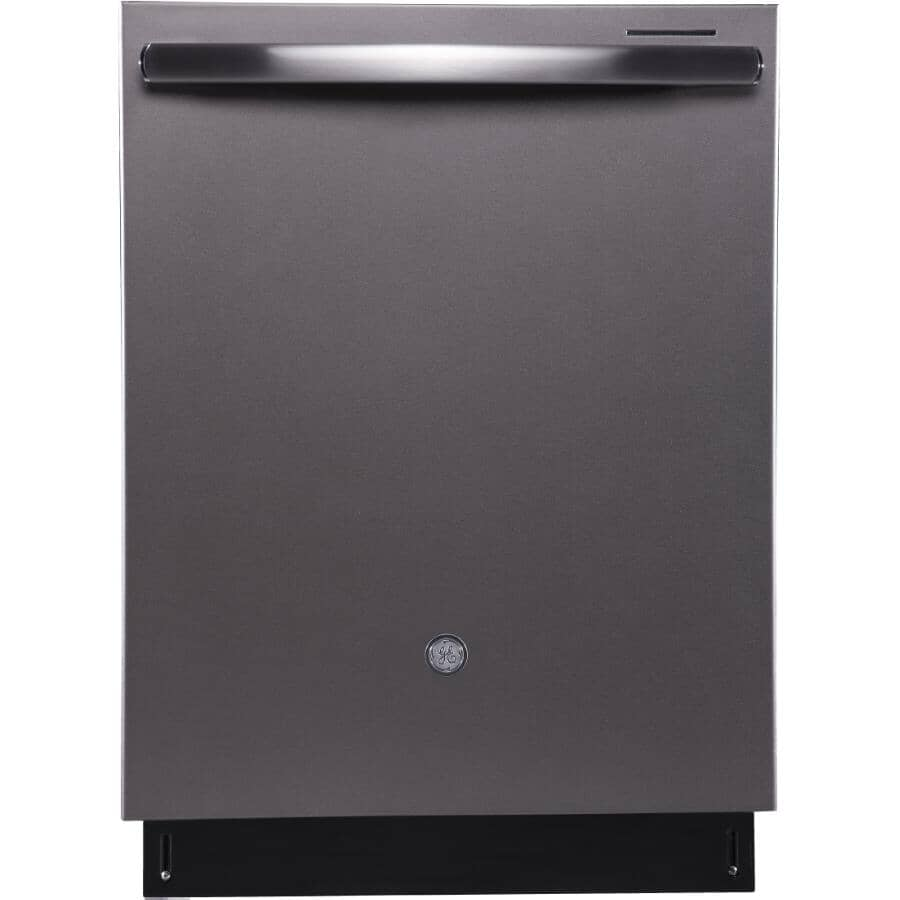 """GE PROFILE:24"""" Slate Built-In Dishwasher, with Stainless Steel Interior"""