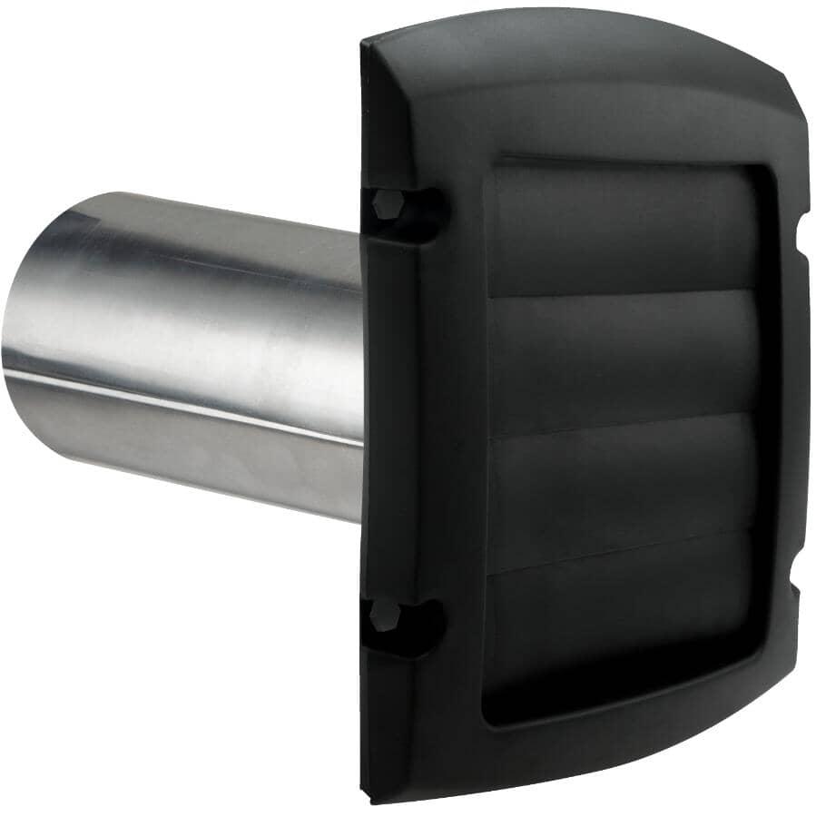 """DUNDAS-JAFINE:6"""" Louvered Vent Hood - with Tail, Black"""