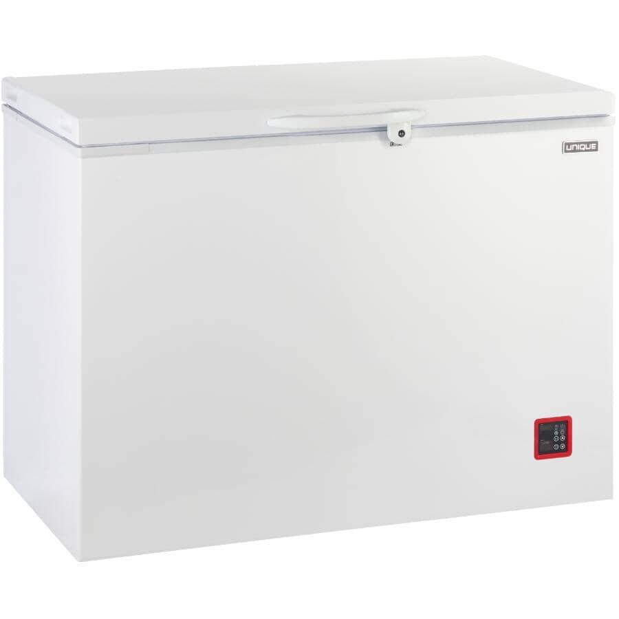 UNIQUE:Solar Powered DC Chest Freezer (UGP-265L W) - White, 9.3 cu. ft.