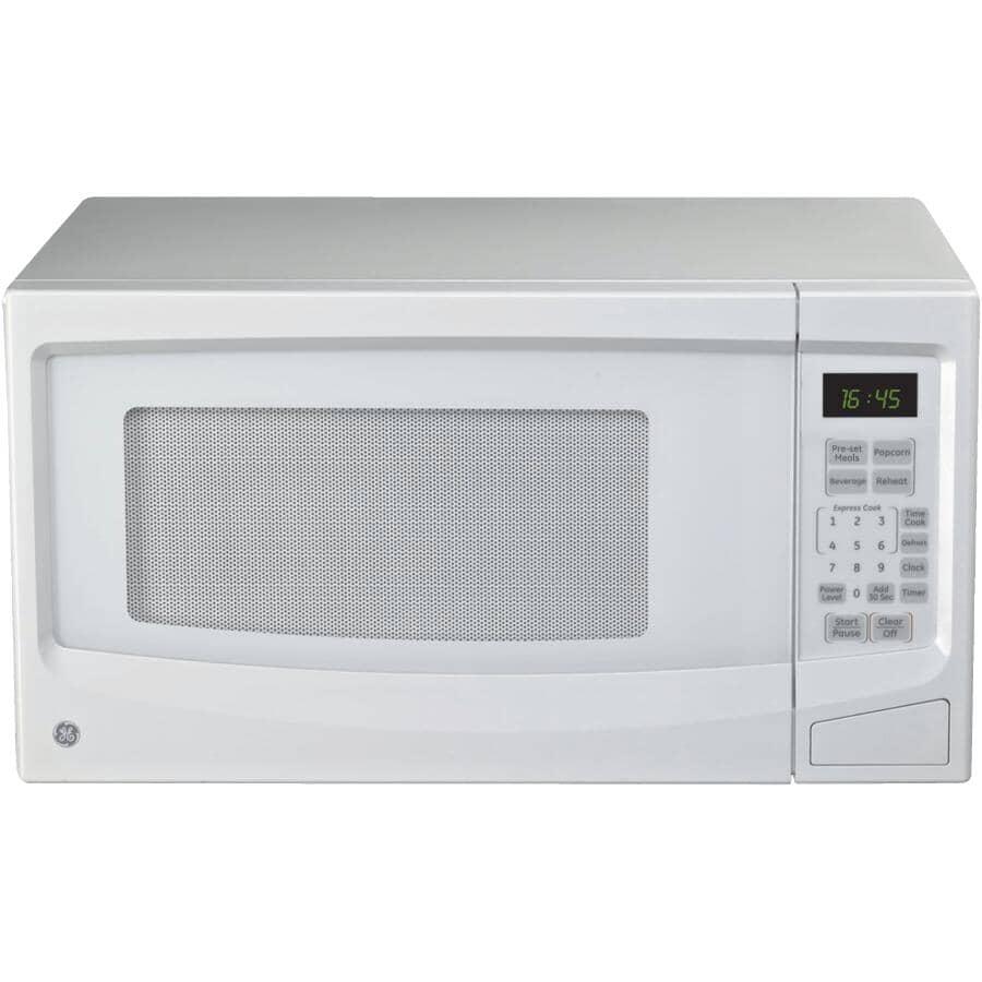 GE:1100 Watt 1.1 Cu.Ft. White Countertop Microwave Oven