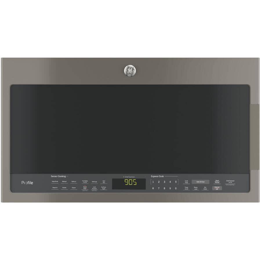 GE:2.1 cu. ft. Over-The-Range Microwave Oven (PVM2188SLJC) - Slate