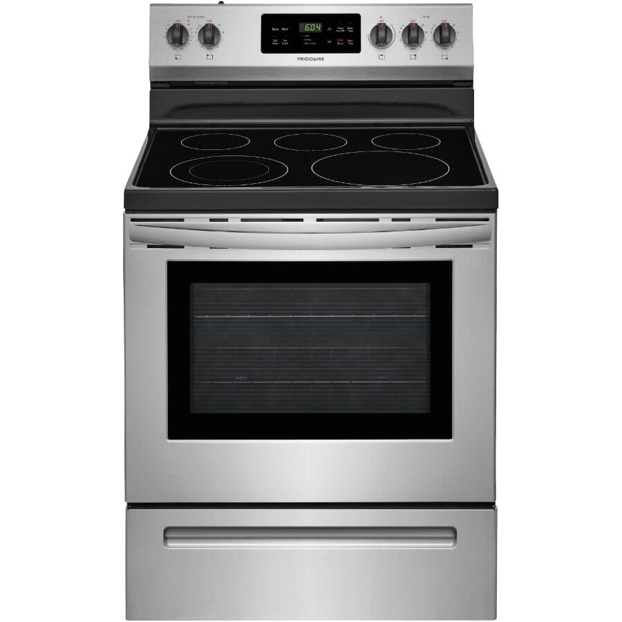 """FRIGIDAIRE:30"""" Smooth Top Electric Range (CFEF3054US) - Self Cleaning + Stainless Steel"""