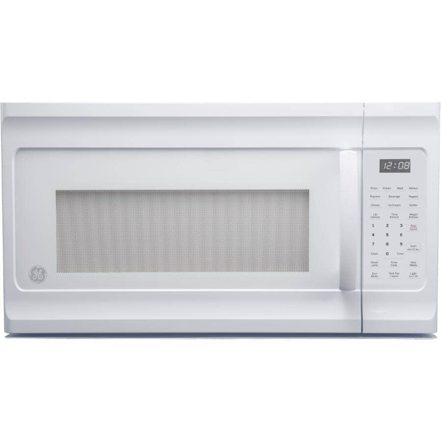 GE:1.6 cu. ft. Over-The-Range Microwave Oven (JVM2160DMWW) - White, 1000W
