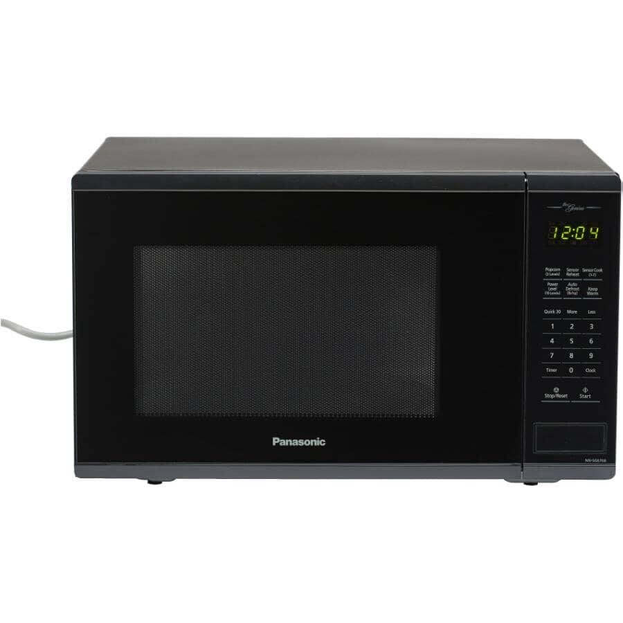 PANASONIC:1100 Watt 1.3 Cu.Ft. Black Countertop Microwave Oven, with Genius Centre