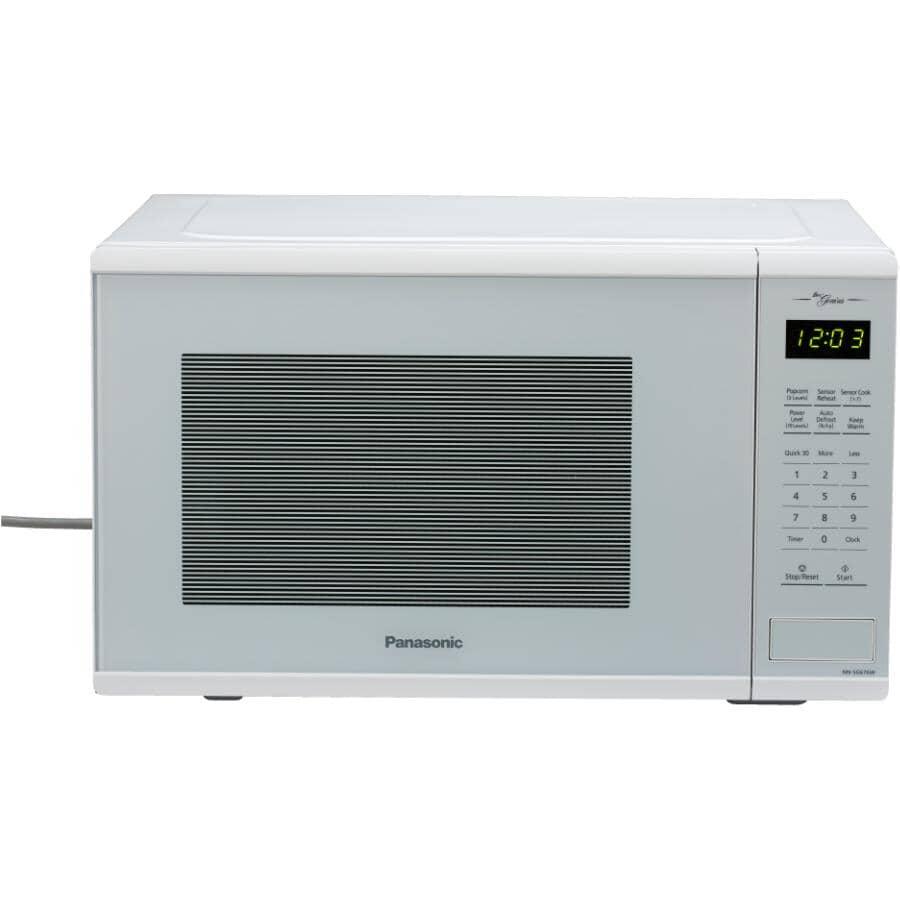 PANASONIC:1100 Watt 1.3 Cu.Ft. White Countertop Microwave Oven, with Genius Centre