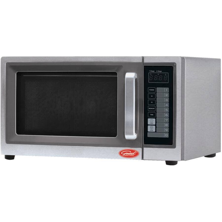 GENERAL COOKING:1000 Watt 1.0 Cu.Ft. Stainless Steel Commercial Grade Countertop Microwave Oven