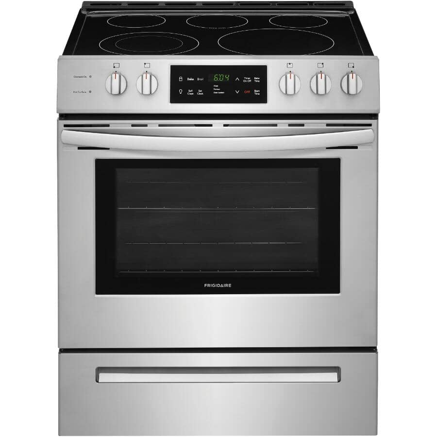 """FRIGIDAIRE:30"""" Stainless Steel Electric Range (cfeh3054us) - Smooth Top + Self Cleaning"""