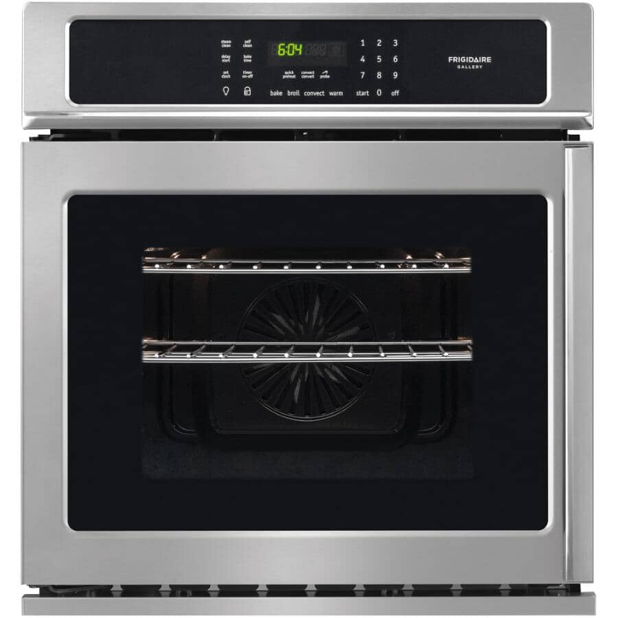 """FRIGIDAIRE GALLERY:27"""" 3.8 cu.ft. Wall Oven (FGEW276SPF) - Side Swing + Stainless Steel"""