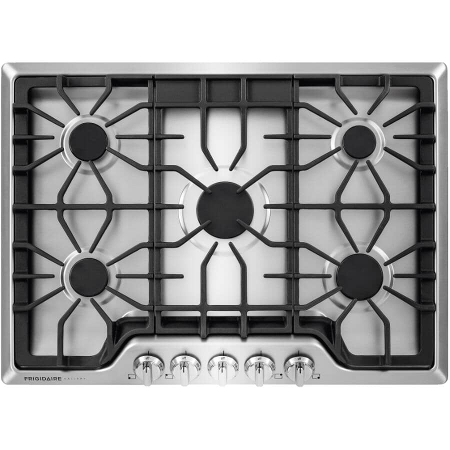"""FRIGIDAIRE GALLERY:30"""" Gas Cooktop (FGGC3047QS) - Stainless Steel"""