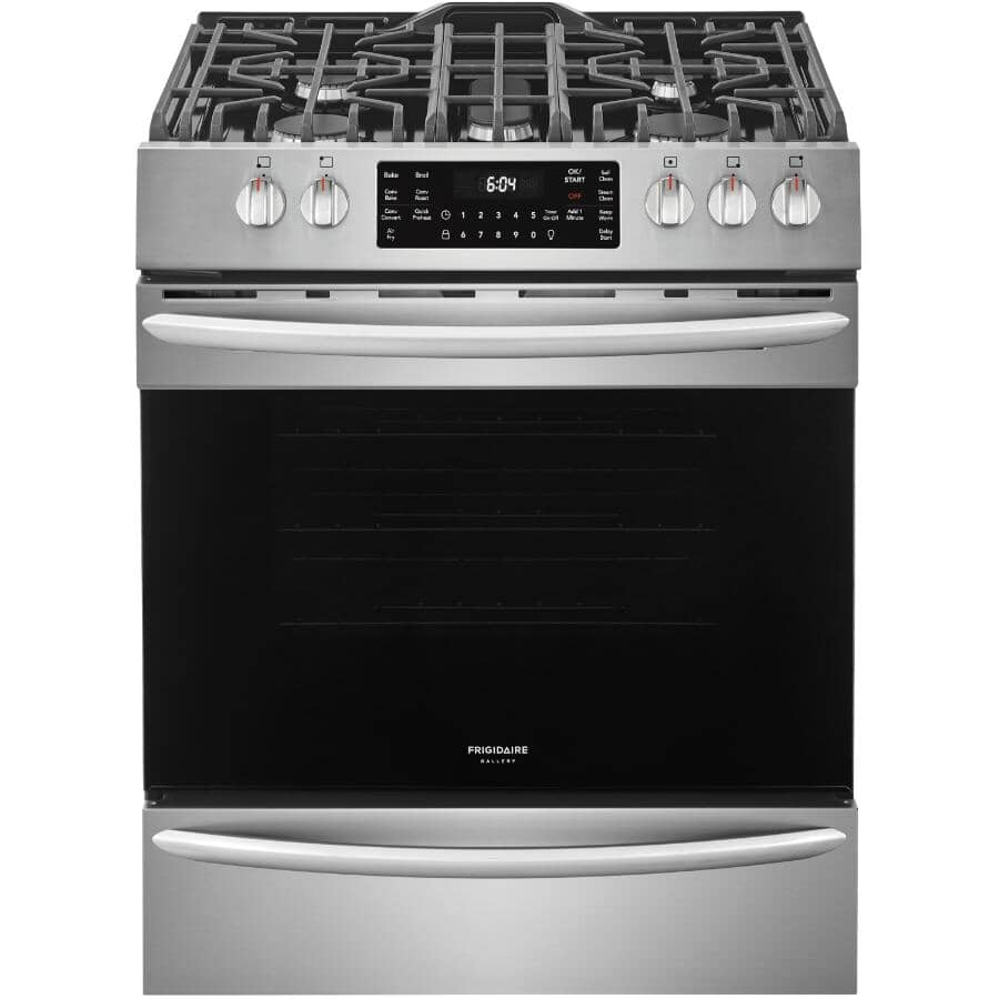 """FRIGIDAIRE GALLERY:30"""" Stainless Steel Convection Gas Range"""