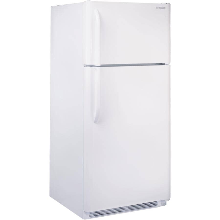 UNIQUE:Réfrigérateur au propane de 22,1 pieds cubes à ventilation directe, blanc