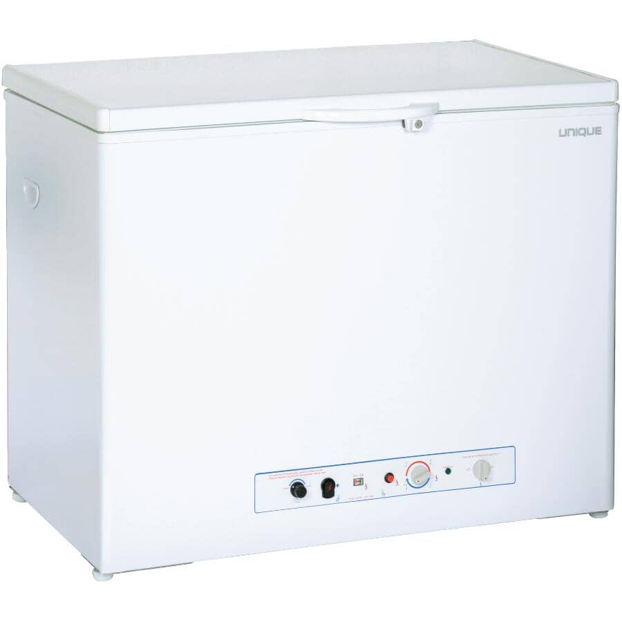 UNIQUE:Propane Freezer (UGP-6F CM W) - CO Alarming Device & Safety Shut Off, White, 6.0 cu. ft.