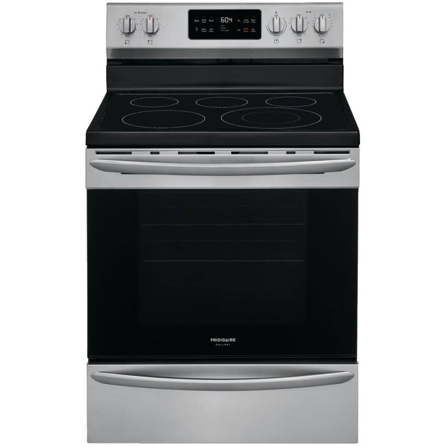 """FRIGIDAIRE GALLERY:30"""" Electric Range - Smooth Top with Steam Cleaning - Stainless Steel"""