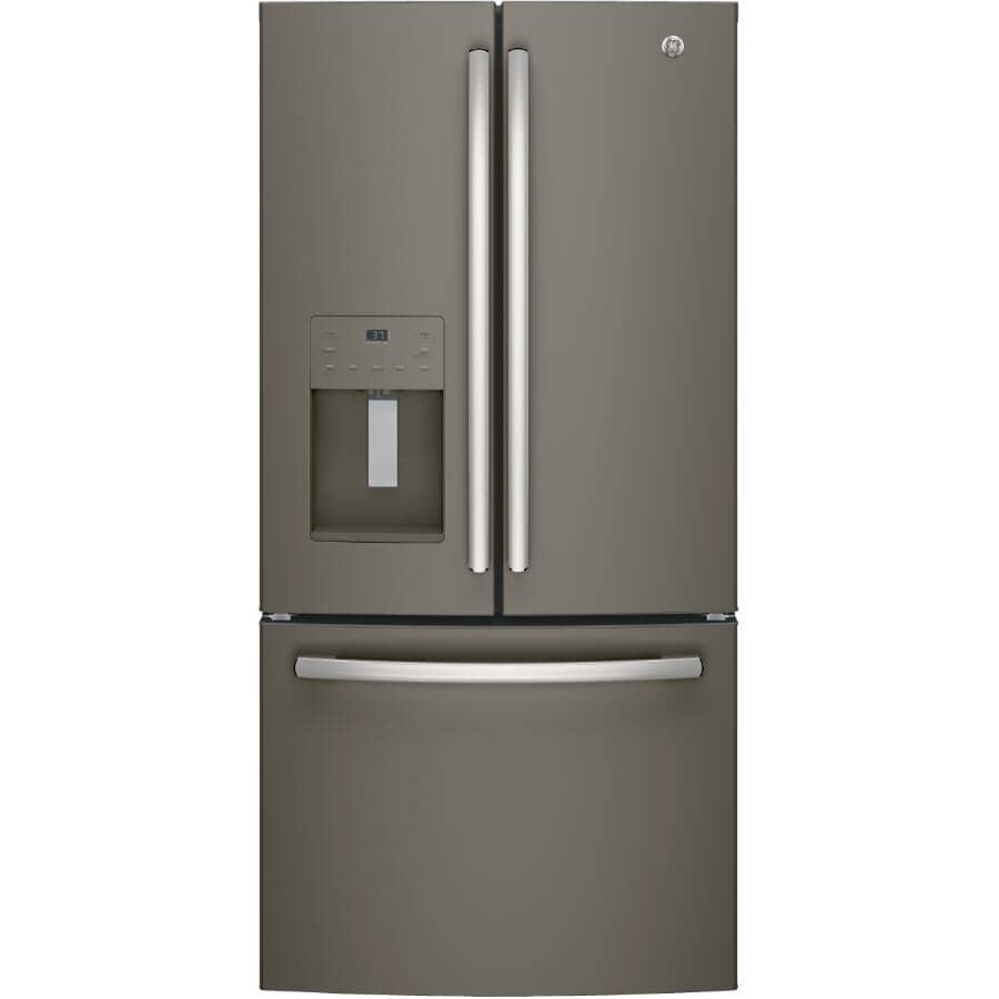 "GE:33"" 23.5 cu. ft. French Door Bottom Freezer Refrigerator (PFE24HMLKES) - Slate"
