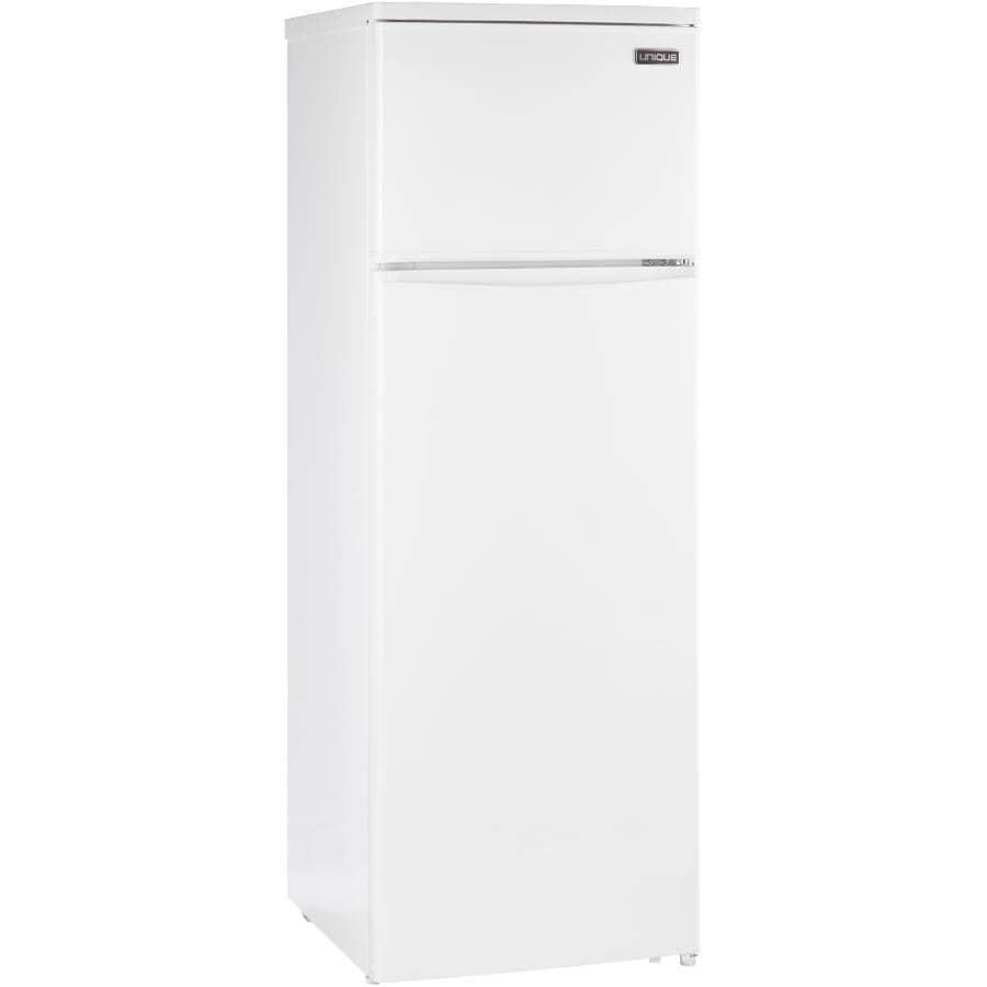 "UNIQUE:24"" 13 cu. ft. Solar Powered Top Freezer Refrigerator (UGP-370L W) - White"