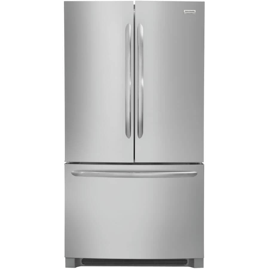 FRIGIDAIRE:27.6 cu. ft. Smudge-Proof Stainless Steel French Door Refrigerator, with Bottom Mount Freezer