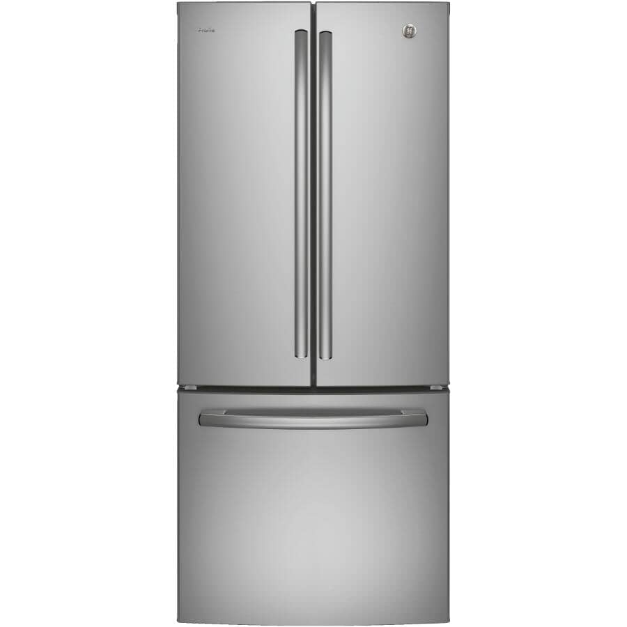 "GE PROFILE:30"" 20.8 cu. ft. French Door Bottom Freezer Refrigerator (PNE21NSLKSS) - Stainless Steel"