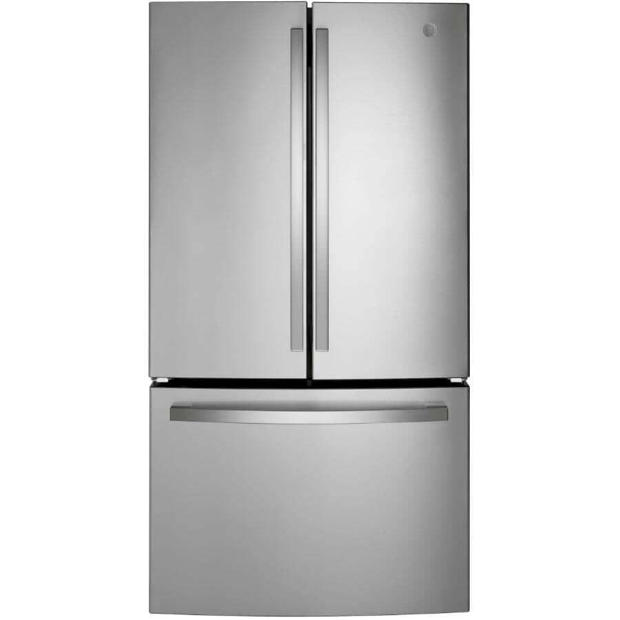 "GE:36"" 27 cu. ft. French Door Bottom Freezer Refrigerator (GNE27JYMFS) - Stainless Steel"