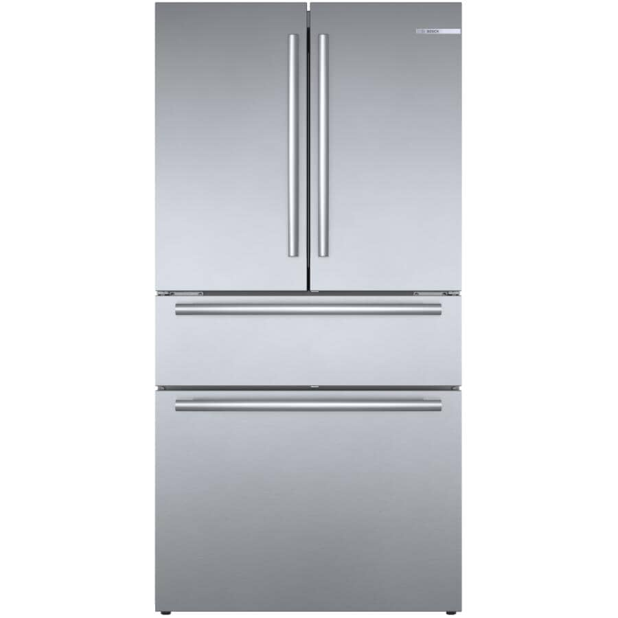 BOSCH:800 Series 21 cu. ft. French Door Refrigerator (B36CL80SNS) - with Bottom Mount Freezer + Home Connect, Stainless Steel