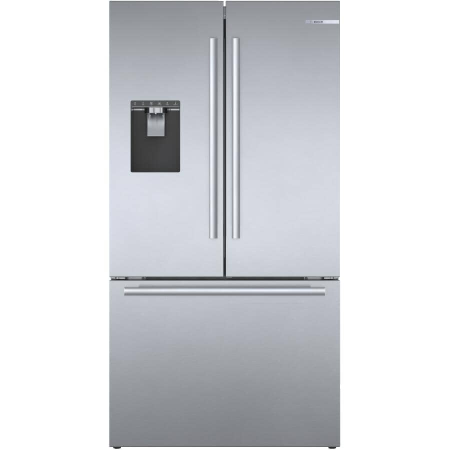 BOSCH:500 Series 21.6 cu. ft. French Door Refrigerator (B36CD50SNS) - with Bottom Mount Freezer + Home Connect, Stainless Steel