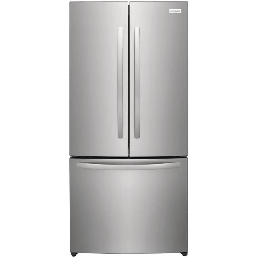 FRIGIDAIRE:17.6 cu. ft. French Door Refrigerator (FRFG1723AV) - with Bottom Mount Freezer, Stainless Steel