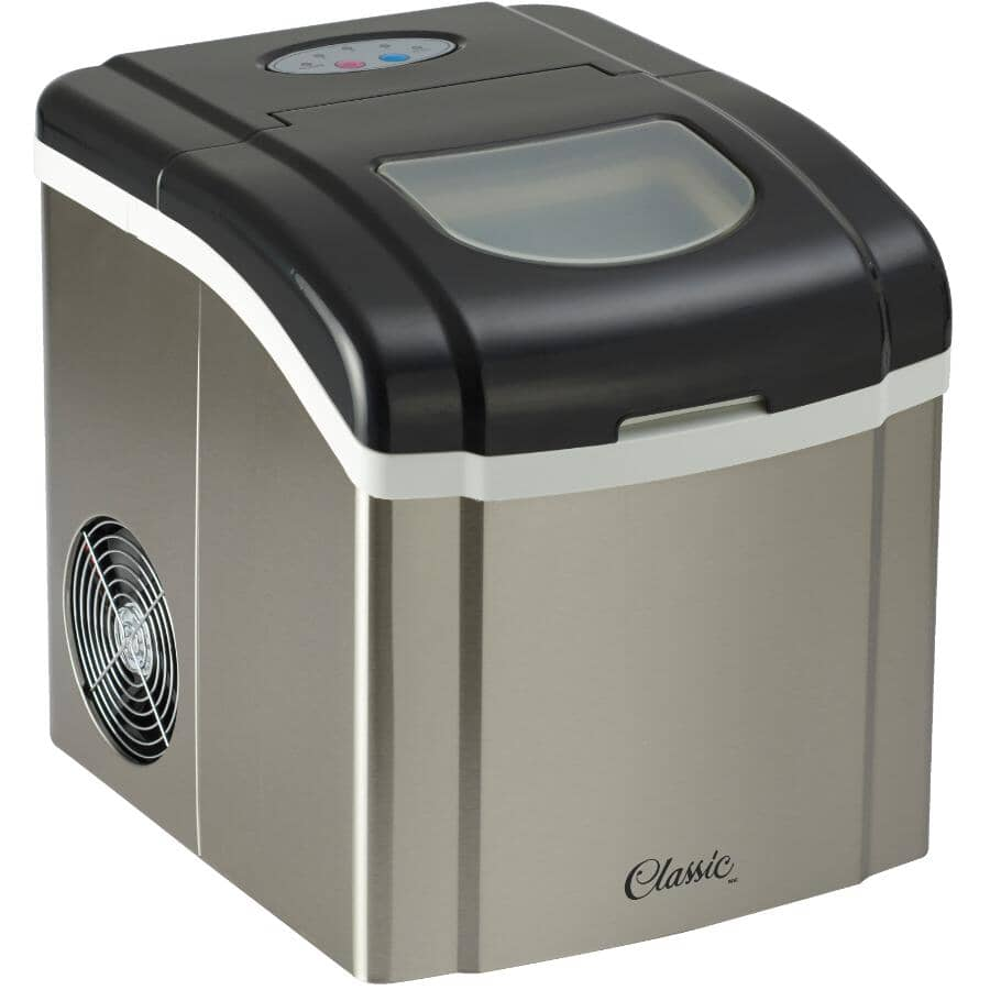 CLASSIC:Stainless Steel Portable Ice Maker