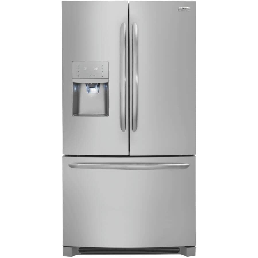 """FRIGIDAIRE:36"""" 26.8 cu. ft. French Door Bottom Freezer Refrigerator (FGHB2868TF) - Smudge-Proof Stainless Steel"""