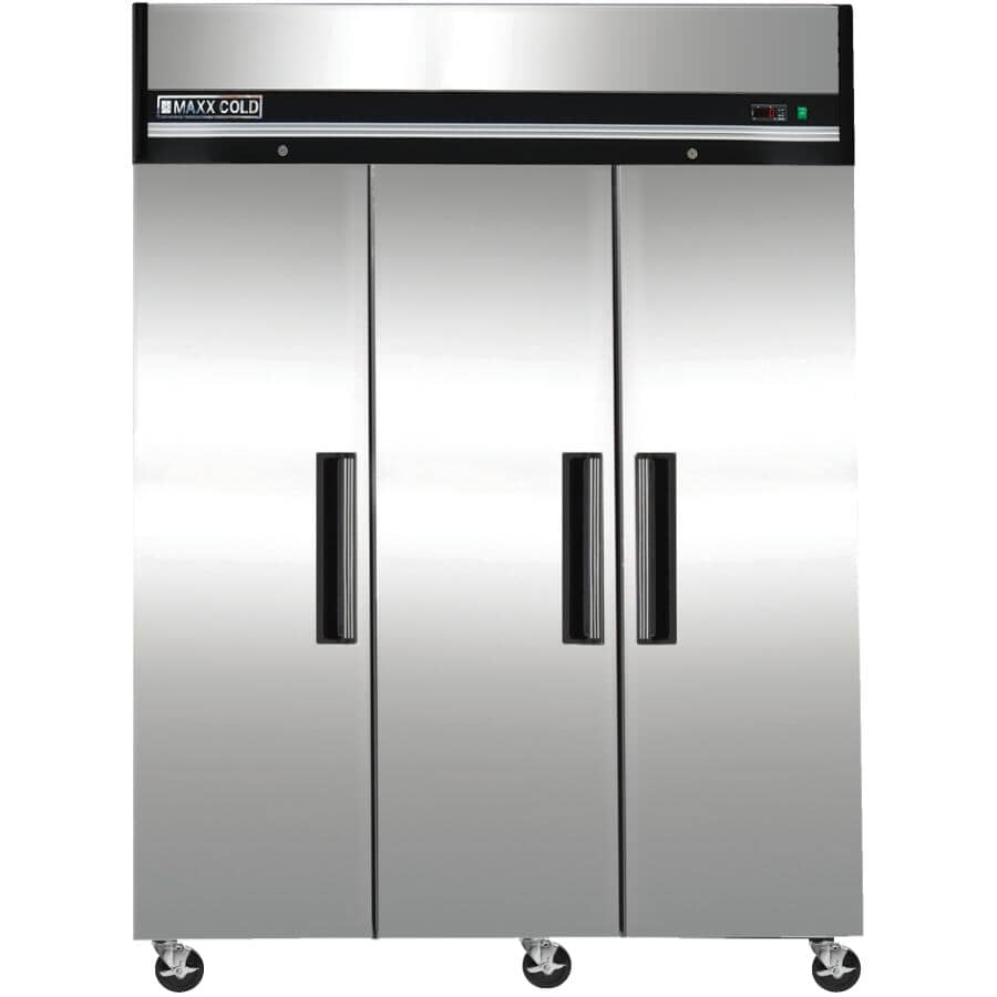 MAXX COLD:72 cu. ft. Stainless Steel 3 Door Commercial Grade Freezer