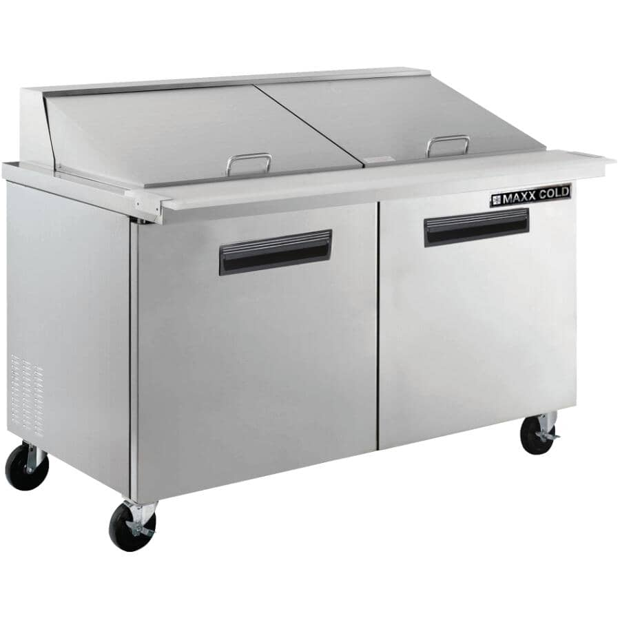 """MAXX COLD:48"""" Stainless Steel Commercial Grade Sandwich Prep Station"""