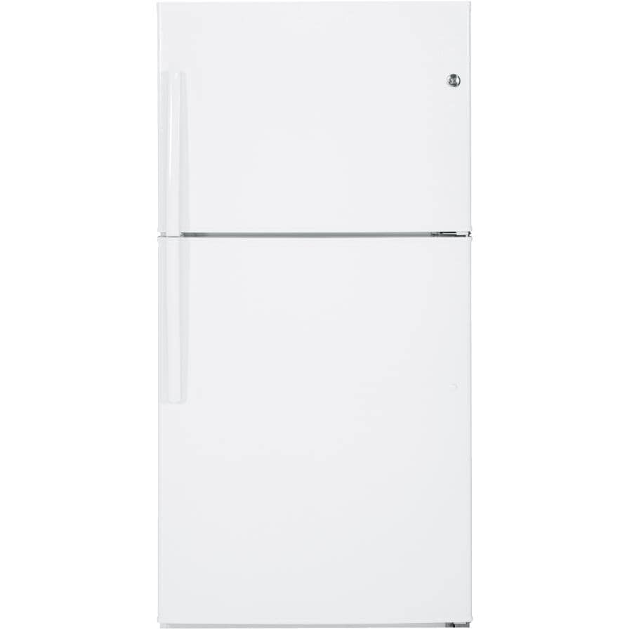 "GE:33"" 21.2 cu. ft. Top Freezer Refrigerator (GTE21GTHWW) - White"