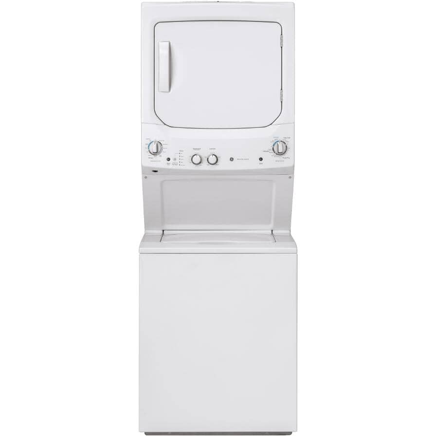 GE:Stackable Washer Dryer Laundry Centre (GUD27ESMMWW) - 4.4 cu. ft. Washer + 5.9 cu. ft. Dryer, White