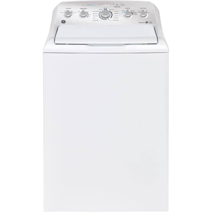 GE:4.9 cu ft. Top Load Washer (GTW490BMRWS) - White