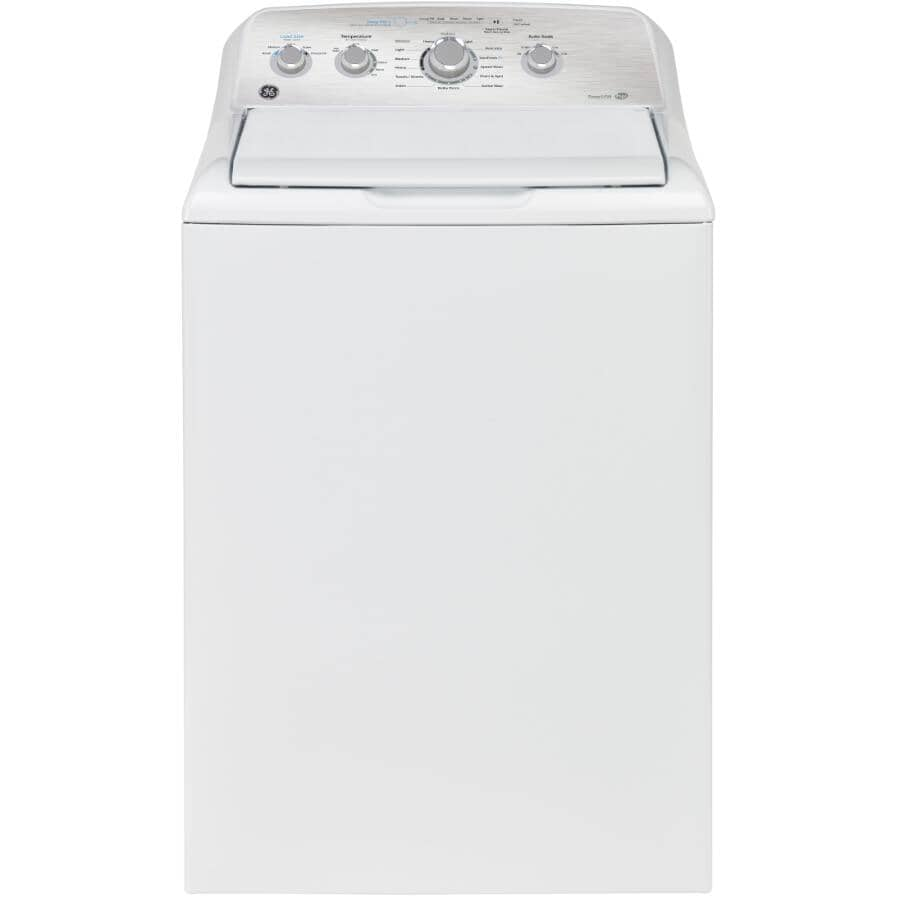 GE:4.9 cu ft. Top Load Washer (GTW451BMRWS) - White