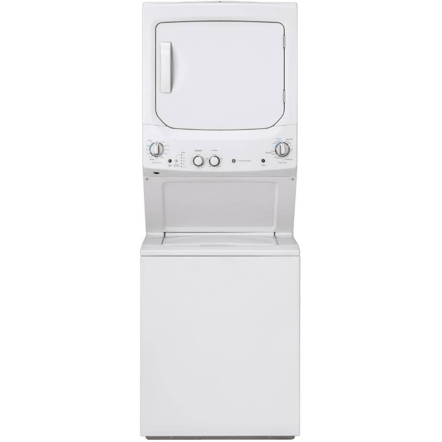 GE:White 2.6 cu. ft. Washer, with 4.4 cu. ft. Dryer