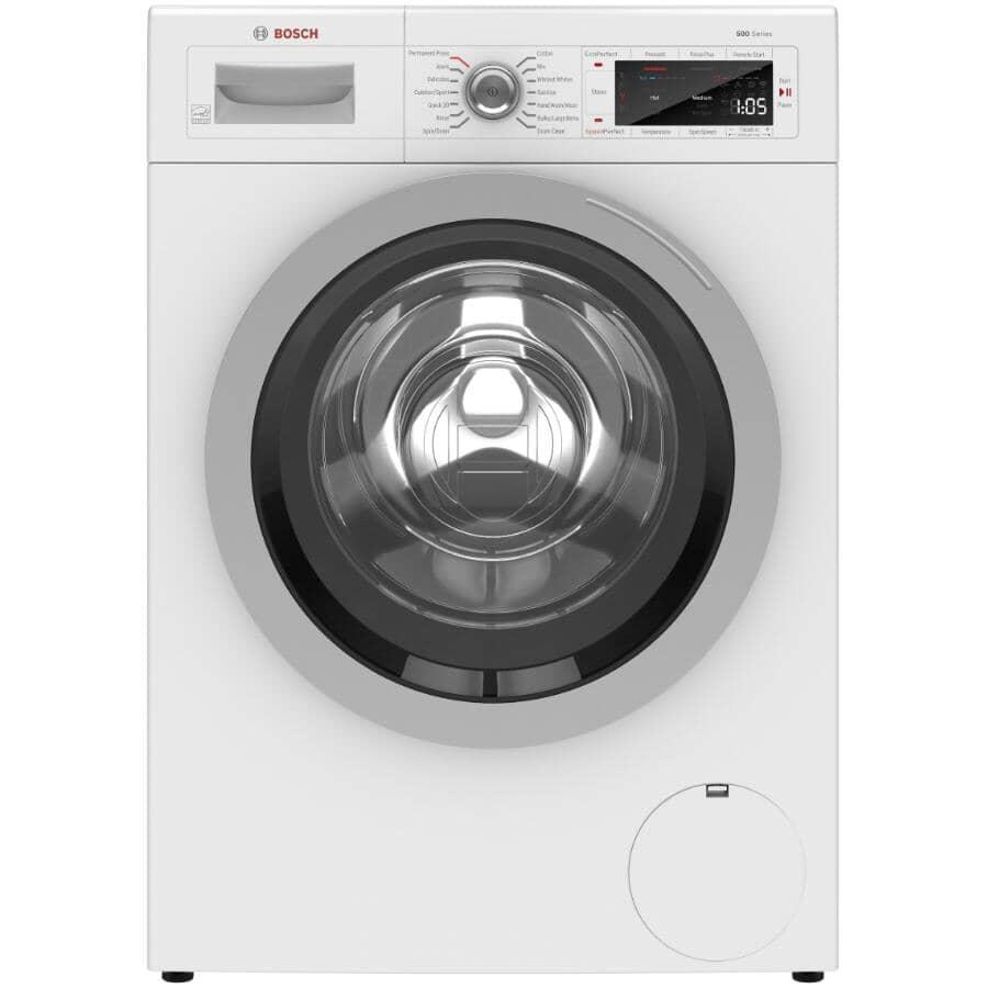 BOSCH:500 Series 2.2 cu. ft. Front Load Washer - with Home Connect, White
