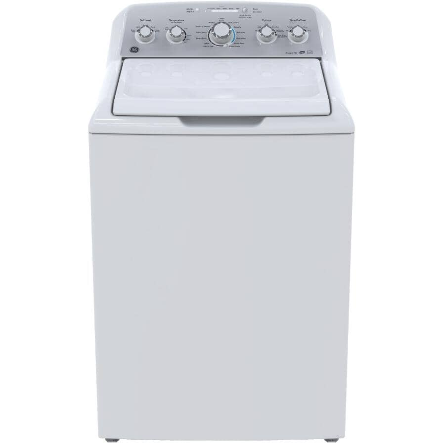 GE:4.9 cu ft. Top Load Washer (GTW485BMMWS) - White