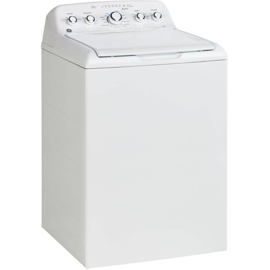 GE:5.0 cu ft. White Top Load Washer