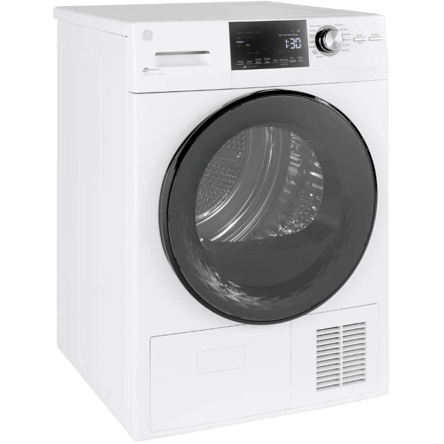 """GE:24"""" 4.1 cu. ft. Electric Front Load Dryer (GFT14JSIMWW) - White"""
