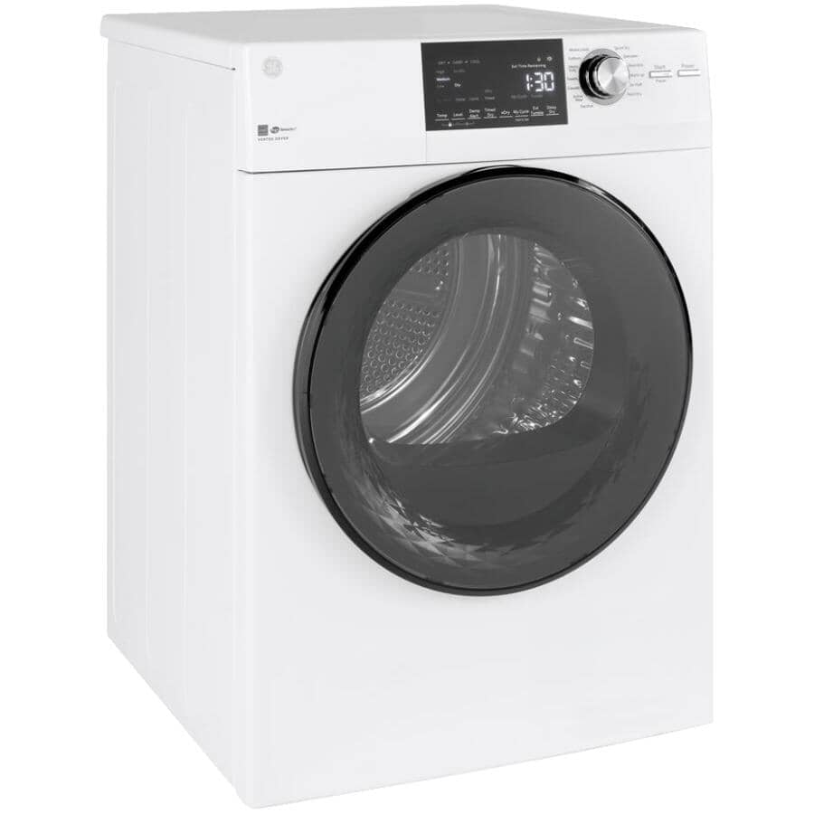 """GE:24"""" 4.1 cu. ft. Electric Front Load Dryer (GFD14JSINWW) - White"""