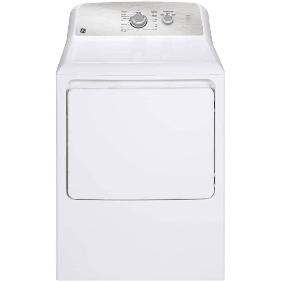 GE:6.2 cu. ft. Electric Dryer (GGTX33EBMRWS) - White